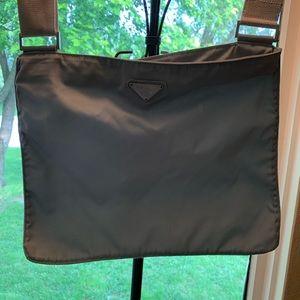 Prada blue vela tessuto shoulder bag purse
